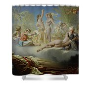The Dream Of The Believer Shower Curtain by Achille Zo
