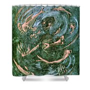 The Dream Of The Fish 1 By Walter Gramatte Shower Curtain