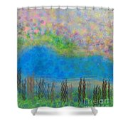 The Dreamy Pond Shower Curtain