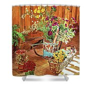The Dried Flower Shop Shower Curtain
