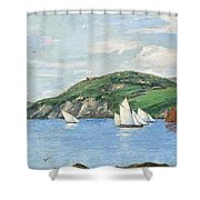 The Drifting Fishing Fleet Shower Curtain