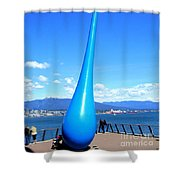 The Drop Vancouver Shower Curtain