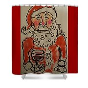 The Drunken Santa Shower Curtain