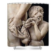 The Drunkenness Of Bacchus Shower Curtain by Michelangelo