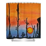 The Dryest Sunset Shower Curtain