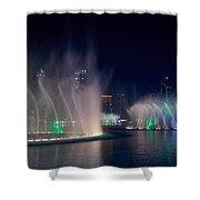 The Dubai Fountain At Burj Khalifa Shower Curtain