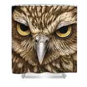 The Dubious Owl Shower Curtain