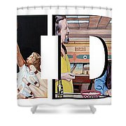 The Dude Abides Shower Curtain by Tom Roderick