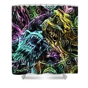 The Duel Of The Dragons  Shower Curtain