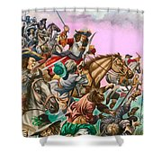 The Duke Of Monmouth At The Battle Of Sedgemoor Shower Curtain