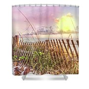 The Dunes In Watercolors Shower Curtain