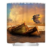 The Eagle And The Boat Shower Curtain
