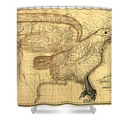 The Eagle Map Of The United States  Shower Curtain