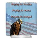 The Eagles Prayer Shower Curtain