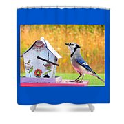 The Early Bird Special Shower Curtain