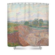 The Earthworks Shower Curtain
