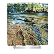 The East Dart River Dartmoor Shower Curtain