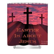 The Easter Cross Shower Curtain