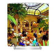 The Easter Holiday Tea At The Palm Court Shower Curtain