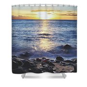 The Ebb And Flow Shower Curtain