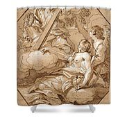 The Ecstasy Of St Mary Magdalene Shower Curtain