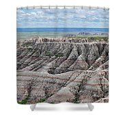 The Edge Of Panoramic Point Shower Curtain