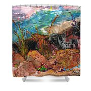The Edge Of The Cliff Shower Curtain