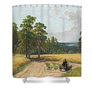 The Edge Of The Pine Forest Shower Curtain