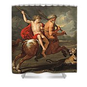 The Education Of Achilles Shower Curtain