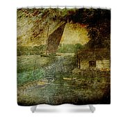 The Eel Fisher's Hut Shower Curtain