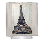 The Eiffel Tower Shower Curtain