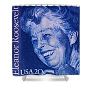 The Eleanor Roosevelt Stamp Shower Curtain