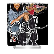 The Electric Violinist Shower Curtain