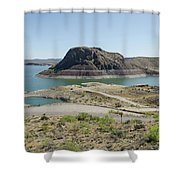 The Elephant At Elephant Butte Lake  Shower Curtain by Allen Sheffield