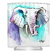 The Elephant King Shower Curtain
