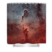 The Elephant Trunk Nebula Shower Curtain by Rolf Geissinger