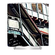 The Elevated Station At 125th Street Shower Curtain
