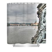 the embankment Praha Shower Curtain