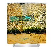 The Emerald Bow Tie Shower Curtain