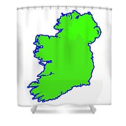 The Emerald Isle Shower Curtain