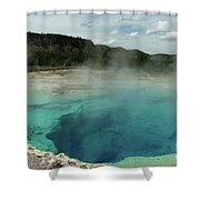 The Emerald Pool Colors Shower Curtain