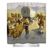 The Emigrants Shower Curtain