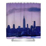 The Empire State Building In New York At 6 A. M. In January Shower Curtain