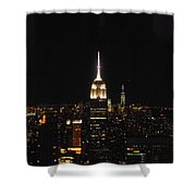 The Empire States At Night Shower Curtain