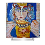 The Empressa  Of Hearts Angel Of Grace Beauty And Devotion Shower Curtain