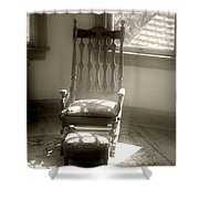 The Empty Chair Shower Curtain