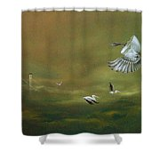 The Empty Nest Shower Curtain