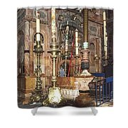 The Empty Tomb Of Christ Shower Curtain