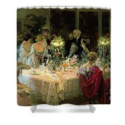 The End Of Dinner Shower Curtain