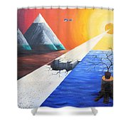 The End Of Humanity Shower Curtain